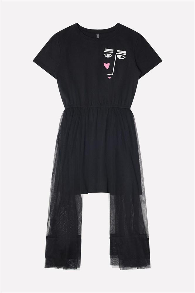 16b1b9d3032637a платье для девочки КБ 5504/черный к9 Crockid купить оптом в tr-plus.ru